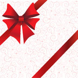 Holidays background with ribbon and bow Royalty Free Stock Images