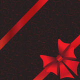 Holidays background with ribbon and bow Stock Photography