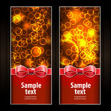 Holidays banners with lighting effect (place for your text) Stock Photos