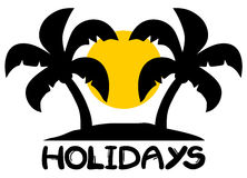 Holidays beach symbol Royalty Free Stock Photos