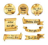 Holidays Big Best Sale and Special Prices Banner Royalty Free Stock Image