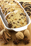 Holidays cake with raisins and nuts Royalty Free Stock Image