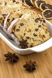 Holidays cake with raisins and nuts Royalty Free Stock Photos
