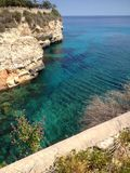 Holidays. Calas de Mallorca sea wiew royalty free stock image