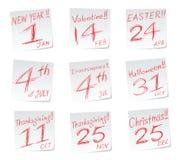 Holidays calendar. A halloween message with a date of calendar stock illustration