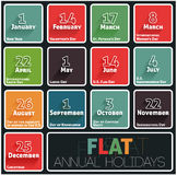 Holidays calendar Royalty Free Stock Photography