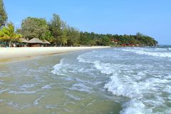 Holidays in Cambodia. Beautiful view from the beach. Awesome world of travel. Summer rest. Holidays in Cambodia. Beautiful view from the beach. Awesome world of stock photography
