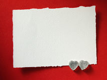 Holidays card with word love and heart Stock Image