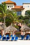 Holidays on the Caribbean beach. Of Mexico Stock Photography