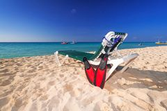 Holidays at the Caribbean beach. Of Mexico Royalty Free Stock Image
