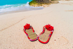 Holidays at the Caribbean beach Stock Image