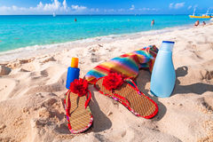 Holidays at the Caribbean beach Stock Images
