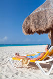 Holidays at Caribbean Sea of Mexico Stock Images