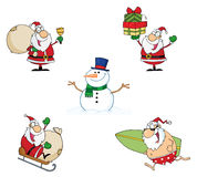 Holidays cartoon characters Royalty Free Stock Image