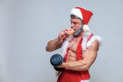 Holidays and celebrations, New year, Christmas, sports, bodybuil