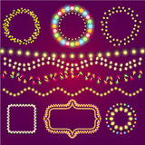 Holidays colorful light casino winner collection. Vector Stock Photography