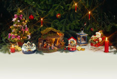 Holidays are coming. Christmas scene. Under the Christmas tree. (No unsharpen mask used Stock Photos