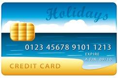 Holidays credit card Stock Image