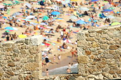 Holidays in Costa Brava Stock Images