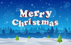 holidays 3D Feliz Navidad EPS 10 ilustración del vector
