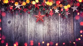 Holidays Decoration Christmas Star with Colored Lights Effects royalty free stock images