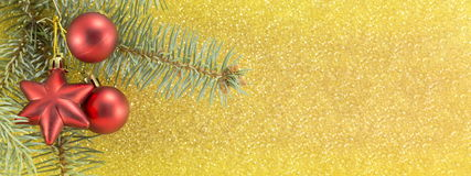 Holidays decorations wide banner Stock Photos