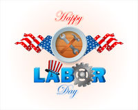 Holidays, design  for celebration of American Labor Day Royalty Free Stock Photography