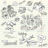 Holidays Doodles Stock Photography
