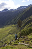 Holidays in Europe and in italy. Walking and trekking in the alps stock photos