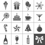 Holidays and event icons Stock Image