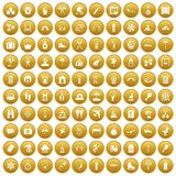 100 holidays family icons set gold. 100 holidays family icons set in gold circle isolated on white vectr illustration vector illustration