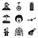 Holidays family icons set, simple style. Holidays family icons set. Simple set of 9 holidays family vector icons for web isolated on white background Royalty Free Stock Images