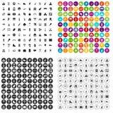 100 holidays family icons set variant. 100 holidays family icons set in 4 variant for any web design isolated on white royalty free illustration