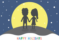 Holidays15 felice Immagini Stock