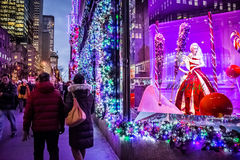 Holidays on Fifth Avenue royalty free stock image