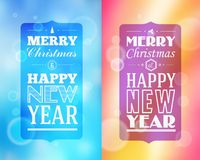 Holidays. Frame happy merry christmas - new year Stock Photos