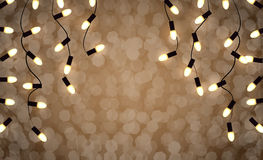 Holidays garlands light Royalty Free Stock Photo