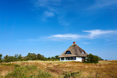 Holidays  in grassland on Hiddensee Royalty Free Stock Image