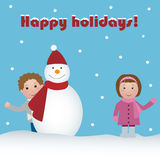 Holidays greeting card Stock Photo