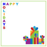 Holidays greeting card Stock Image