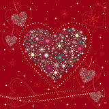 Holidays Hearts background. Stock Photography