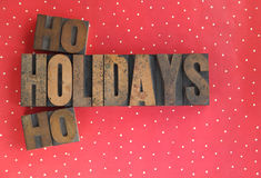 Holidays ho ho words on polka dots Stock Photography