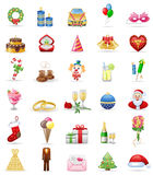 Holidays icon set. Royalty Free Stock Photo