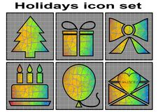 Holidays icon Stock Photo