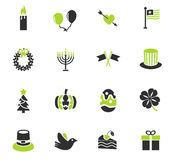 Holidays icon set Royalty Free Stock Photo