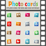 Holidays icon set Royalty Free Stock Photography