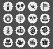 Holidays icon set Stock Images