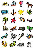 Holidays icons Stock Photography
