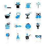 Holidays icons. Set of 16 holidays icons on white background Royalty Free Stock Photo