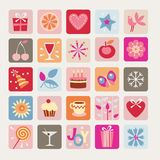 Holidays Icons Royalty Free Stock Photography